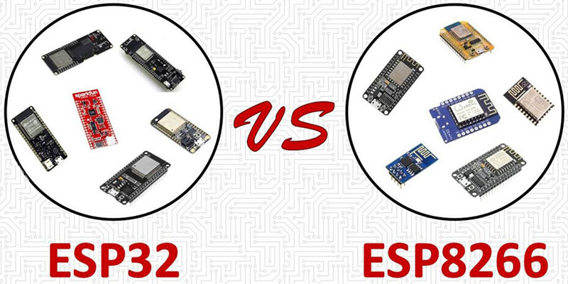 تفاوت بین برد های ESP8266 و ESP32 و بررسی جوانب مثبت و منفی آنها